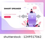 user with voice controlled... | Shutterstock .eps vector #1249517062