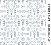 seamless pattern with zipper ... | Shutterstock .eps vector #1249518685