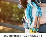 snap hook  equipment in safety... | Shutterstock . vector #1249521145
