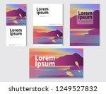 polygonal landscape... | Shutterstock .eps vector #1249527832