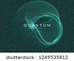 visualization background.... | Shutterstock .eps vector #1249535812