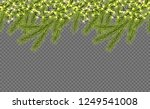 seamless border with relistic... | Shutterstock .eps vector #1249541008