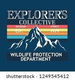 adventure camp outdoor. college.... | Shutterstock .eps vector #1249545412