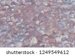 beautiful cabochon rose quartz... | Shutterstock . vector #1249549612