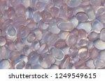 beautiful cabochon rose quartz... | Shutterstock . vector #1249549615