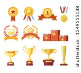 awards of champion golden cup... | Shutterstock .eps vector #1249555138