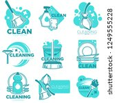 cleaning service and company... | Shutterstock .eps vector #1249555228