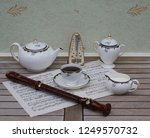 english teacup with saucer ... | Shutterstock . vector #1249570732
