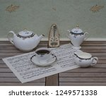 english teacup with saucer ... | Shutterstock . vector #1249571338