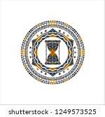 hourglass icon inside arabesque ...   Shutterstock .eps vector #1249573525