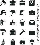 solid black vector icon set  ... | Shutterstock .eps vector #1249580125