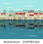 cityscape illustration with... | Shutterstock .eps vector #1249581262