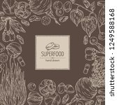background with super food ... | Shutterstock .eps vector #1249588168