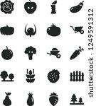 solid black vector icon set  ... | Shutterstock .eps vector #1249591312