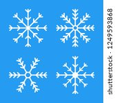 snowflakes  icons. vector... | Shutterstock .eps vector #1249593868