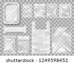 empty packs  plastic package... | Shutterstock .eps vector #1249598452