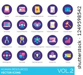 human resources icons including ... | Shutterstock .eps vector #1249598542