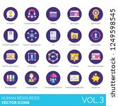 human resources icons including ... | Shutterstock .eps vector #1249598545