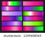 neon ufo green  plastic pink ... | Shutterstock .eps vector #1249608565