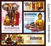 buddhism religion design with... | Shutterstock .eps vector #1249609975