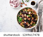 warm buckwheat and beetroot... | Shutterstock . vector #1249617478
