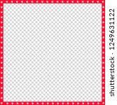 cute square red and white photo ... | Shutterstock .eps vector #1249631122