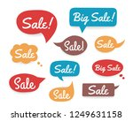 set of colored hand drawn... | Shutterstock .eps vector #1249631158