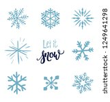 vector set of snowflakes  ... | Shutterstock .eps vector #1249641298