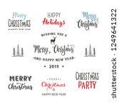 christmas typographic... | Shutterstock .eps vector #1249641322