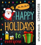 christmas greeting card  ... | Shutterstock .eps vector #1249641358
