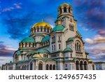 the aleksander nevsky orthodox... | Shutterstock . vector #1249657435