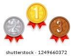gold silver bronze award sport... | Shutterstock .eps vector #1249660372