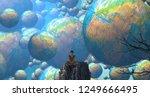 2d illustration. abstract... | Shutterstock . vector #1249666495