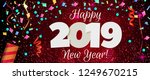 happy new year 2019 greeting... | Shutterstock . vector #1249670215