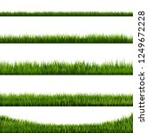 grass border big collection | Shutterstock . vector #1249672228
