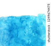 watercolor blue background.... | Shutterstock . vector #1249674475