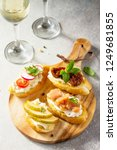 italian antipasti snacks set... | Shutterstock . vector #1249681855