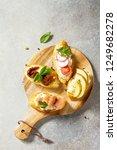 italian antipasti snacks set... | Shutterstock . vector #1249682278
