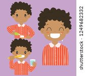 brushing teeth activities... | Shutterstock .eps vector #1249682332