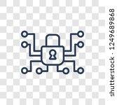 cyberspace icon. trendy linear... | Shutterstock .eps vector #1249689868