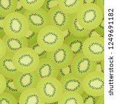 kiwi slices seamless pattern.... | Shutterstock .eps vector #1249691182