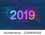 merry christmas and happy new...   Shutterstock .eps vector #1249694185