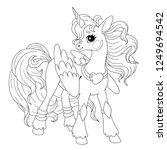 cute cartoon character for... | Shutterstock .eps vector #1249694542