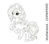 cute cartoon character for... | Shutterstock .eps vector #1249694545