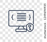 authorize icon. trendy linear... | Shutterstock .eps vector #1249694935
