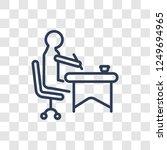 writer icon. trendy linear... | Shutterstock .eps vector #1249694965