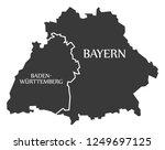 baden wuerttemberg   bavaria... | Shutterstock .eps vector #1249697125