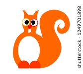 vector illustration of squirrel ... | Shutterstock .eps vector #1249701898