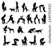 vector silhouette of set of...   Shutterstock .eps vector #1249701922