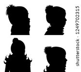 vector silhouette of children... | Shutterstock .eps vector #1249702315